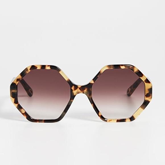Chloe Willow 57mm Geo Sunglasses- NEW!